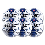Select Royale Navy Game Ball 6 Pack