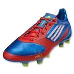 adidas F50 adizero TRX FG Cleats (Prime Blue/White/Core Energy)