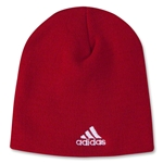 adidas Cuffless Knit Beanie (Red)