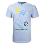 Soccer is a Kick in the Grass T-Shirt (Sky)