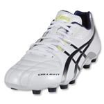 Asics DS Light 5 Cleats (Pearl White/Navy/Metallic Silver/Limeade)
