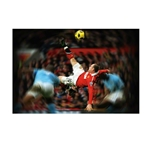 Manchester United Wayne Rooney Bicycle Kick FatHead Mural Wall Graphic