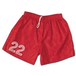 Vici Team Check Soccer Shorts (Red)
