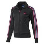 adidas Originals Women's Firebird Track Top (Black/Pink)