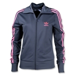 adidas Originals Women's Firebird Track Top (Dk Grey)