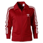 adidas Originals Women's Firebird Track Top (Red/White)