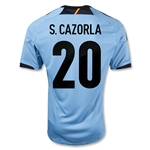 Spain 12/13 CAZORLA Away Soccer Jersey
