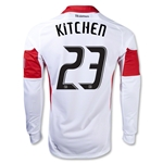 DC United 2013 KITCHEN LS Authentic Secondary Soccer Jersey