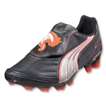 PUMA v1.11 K i FG Cleats (Team Charcoal/White/Fluo Peach)