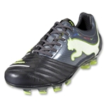PUMA PowerCat 1.12 FG Cleats (Black/Dark Shadow/White/Lime Punch)