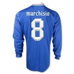 Italy 2012 MARCHISIO Home Long Sleeve Soccer Jersey