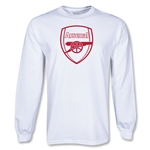 Arsenal LS Red Crest T-Shirt (White)