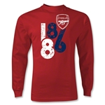 Arsenal 1886 Graphic LS T-Shirt (Red)