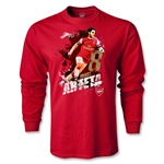 Arsenal Arteta Player LS T-Shirt (Red)