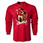 Arsenal Cazorla Player LS T-Shirt (Red)