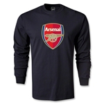 Arsenal Crest LS T-Shirt (Black)