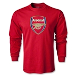 Arsenal Crest LS T-Shirt (Red)