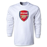 Arsenal Crest LS T-Shirt (White)
