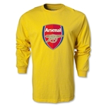 Arsenal Crest LS T-Shirt (Yellow)