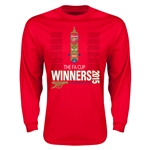 Arsenal 2015 FA Cup Winners LS T-Shirt (Red)