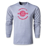 Bayern Munich Distressed Property LS T-Shirt (Gray)
