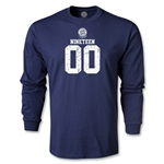 Bayern Munich Distressed 1900 LS T-Shirt (Navy)