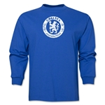 Chelsea Distressed Emblem LS T-Shirt (Royal)