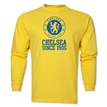 Chelsea White Crest Distressed LS T-Shirt (Yellow)