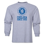 Chelsea White Crest Distressed LS T-Shirt (Grey)