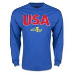 CONCACAF Gold Cup 2015 USA Big Logo LS T-Shirt (Royal)
