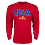 CONCACAF Gold Cup 2015 USA Big Logo LS T-Shirt (Red)