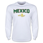 CONCACAF Gold Cup 2015 Mexico Big Logo LS T-Shirt (White)