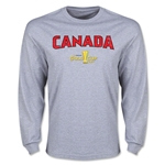 CONCACAF Gold Cup 2015 Canada Big Logo LS T-Shirt (Grey)
