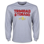 CONCACAF Gold Cup 2015 Trinidad & Tobago Men's Big Logo LS T-Shirt (Grey)