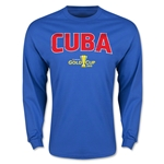 CONCACAF Gold Cup 2015 Cuba Men's Big Logo LS T-Shirt (Royal)
