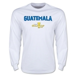 CONCACAF Gold Cup 2015 Guatemala Men's Big Logo LS T-Shirt (White)