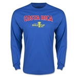 CONCACAF Gold Cup 2015 Costa Rica Men's Big Logo LS T-Shirt (Royal)