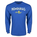 CONCACAF Gold Cup 2015 Honduras Men's Big Logo LS T-Shirt (Royal)