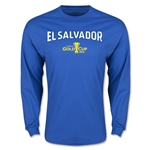 CONCACAF Gold Cup 2015 El Salvador Men's Big Logo LS T-Shirt (Royal)