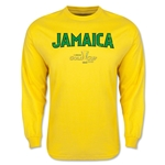 CONCACAF Gold Cup 2015 Jamaica Men's Big Logo LS T-Shirt (Yellow)