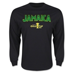 CONCACAF Gold Cup 2015 Jamaica Men's Big Logo LS T-Shirt (Black)