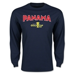 CONCACAF Gold Cup 2015 Panama Men's Big Logo LS T-Shirt (Navy)