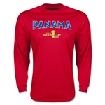 CONCACAF Gold Cup 2015 Panama Men's Big Logo LS T-Shirt (Red)