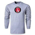 Charlton Athletic Crest LS T-Shirt (Gray)