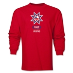 Chile Copa America 2015 Banderas LS T-Shirt (Red)