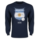 Argentina Copa America 2015 Badge Long Sleeve T-Shirt (Navy)