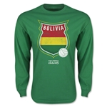Bolivia Copa America 2015 Badge Long Sleeve T-Shirt (Green)
