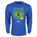 Brazil Copa America 2015 Badge Long Sleeve T-Shirt (Blue)