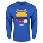 Colombia Copa America 2015 Badge Long Sleeve T-Shirt (Blue)