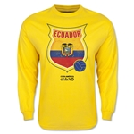 Ecuador Copa America 2015 Badge Long Sleeve T-Shirt (Yellow)